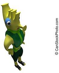 Peaceful green alien