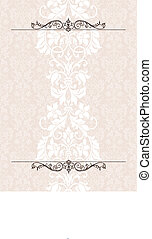 Vector Victorian Column Background