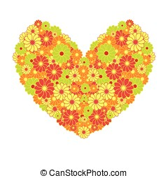 floral isolated valentine heart