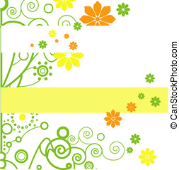 floral spring background for text