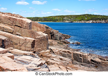 View of Acadia National Park, Maine.