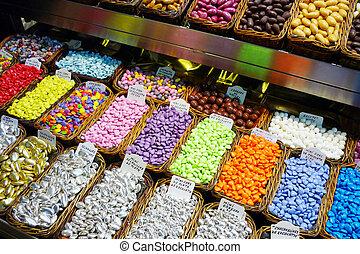 confetti in market place