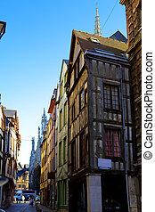 France. Normandie. Rouen. Ancient houses.