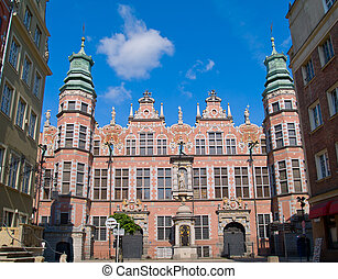 great armory Gdansk, Poland - old baroque style great armory...