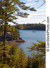 View of Acadia National Park, Maine. - Scenic view of Acadia...