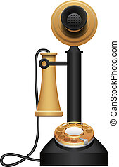 Old Telephone - Layered vector illustration of Old...