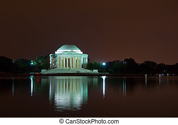 Jefferson Memorial at night, Washington DC