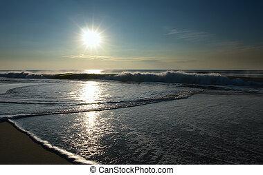 Sunrise, Atlantic ocean coast, MD, USA