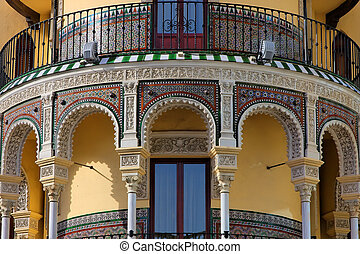 Sevilla - Andalusian style building in Sevilla, Spain