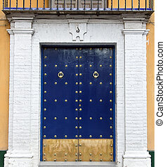Sevilla - Andalusian style door in Sevilla, Spain