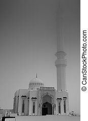 Mosque in the Mist Black & White