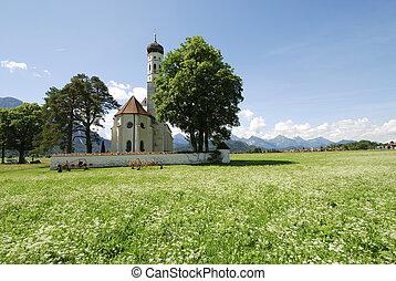 St. Coloman church - Baroque St. Coloman church near...