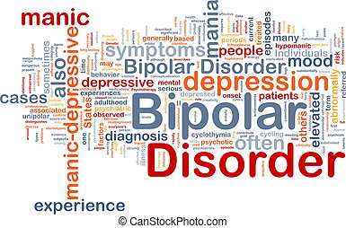 Bipolar disorder background concept - Background concept...