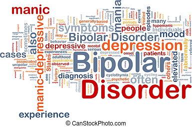 bipolar, desorden, Plano de fondo, concepto