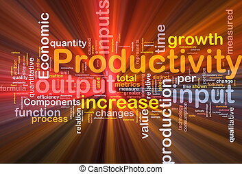 Productivity background concept glowing - Background concept...