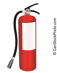 Fire extinguisher illustration on a white background