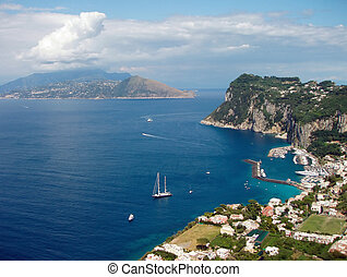 Capri - View of Harbor on Capri
