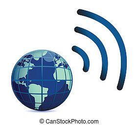 earth wireless connection - wireless connection with the...