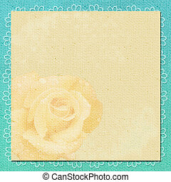 background in scrapbook style in beige, cyan colors
