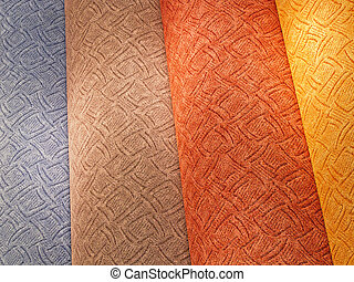 carpet samples - colorful carpet samples on the shelves