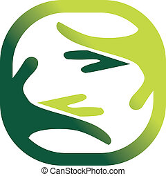 Symbol of a natures care - Green symbol of a natures care...