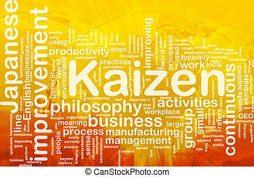 Kaizen word cloud - Word cloud concept illustration of...