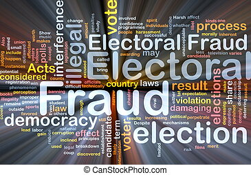 Electoral fraud background concept glowing - Background...