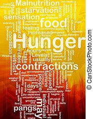 hambre, Plano de fondo, concepto