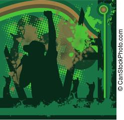 rock singer concert vector - rock singer concert, vector...