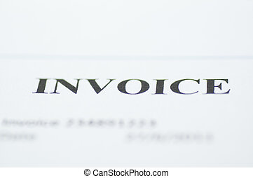 Invoice title - Invoice headline with short deep of field