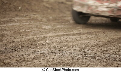 Sports car - Racing without rules on old cars and the dirt...