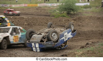 Accident at the extreme racing - Racing without rules on old...