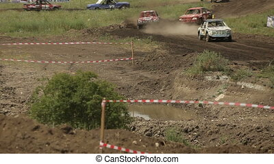 Extreme race - Racing without rules on old cars and the dirt...