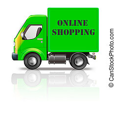 online shopping - web shop online shopping internet icon...