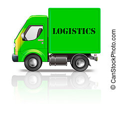 logistics truck - logistics delivery truck freight package...