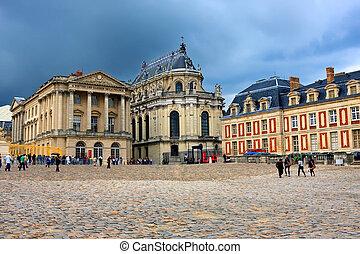 Versailles palace, France - Dramatic clouds over Versailles...
