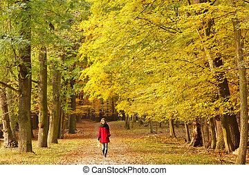 In autumn park
