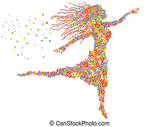 beautiful dancing floral girl - beautiful dancing girl...