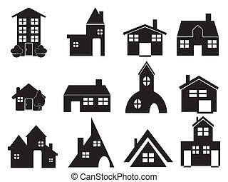 set of house icons for web design