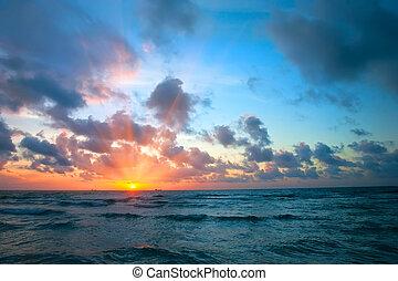 日出, 在上方, 海洋