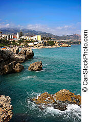 Nerja, Spain - View on Balcony of Europ, Nerja, Spain
