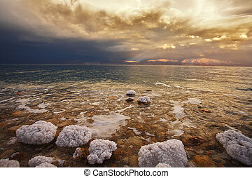 The spring thunder-storm on the Dead Sea