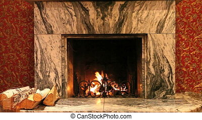 Mini fireplace - Fireplace in room of house