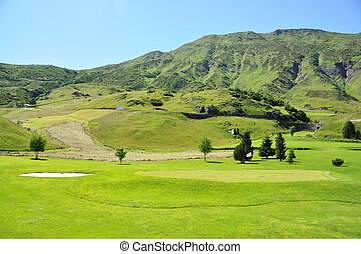 Golf course in the Swiss Alps