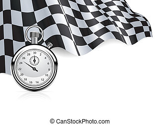 StopWatch_Flag - Checkered flag with a stopwatch background...