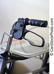 Close up of a walking aide - Close up of the grip and brake...