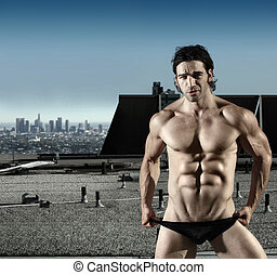 Sexy male underwear model - Fashion portrait of sexy male...