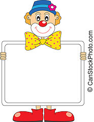 Funny clown. Vector art-illustration on a white background.