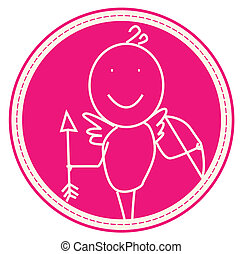 love symbol - Angel man cupid love symbol