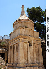 Tomb of Absalom or Absalom\'s Pillar in the Kidron Valley in...